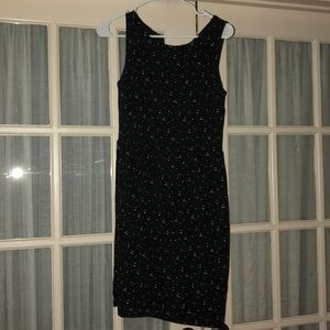 LOFT Black and White Speckled Dress